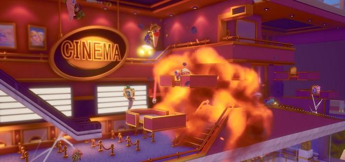 Безумие и хаос в геймплее Worms Rumble