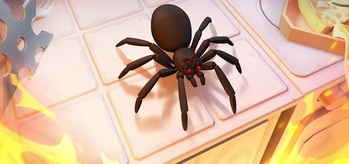 Огнемет, сюрикэны и сковорода в новом трейлере симулятора уничтожения пауков Kill It With Fire
