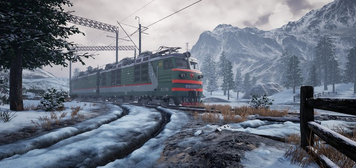 """Группа """"Кино"""", мороз и установка деталей в геймплее симулятора Trans-Siberian Railway Simulator"""