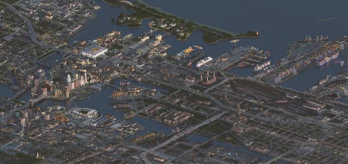 Огромный город Greenfield из Minecraft показали с высоты — похоже на SimCity