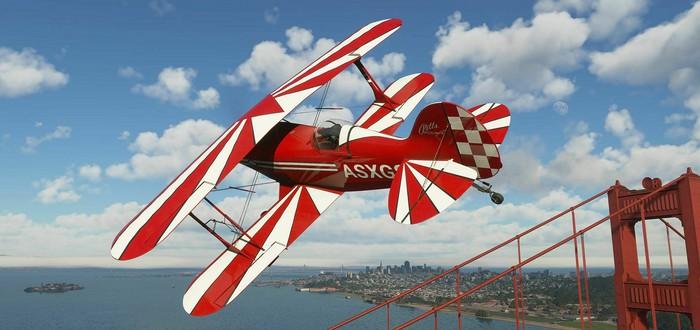 Чудеса света и трюки на самолетах в новом геймплее Microsoft Flight Simulator