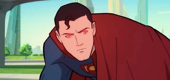 Прибытие Лобо в отрывке из мультфильма Superman: Man of Tomorrow