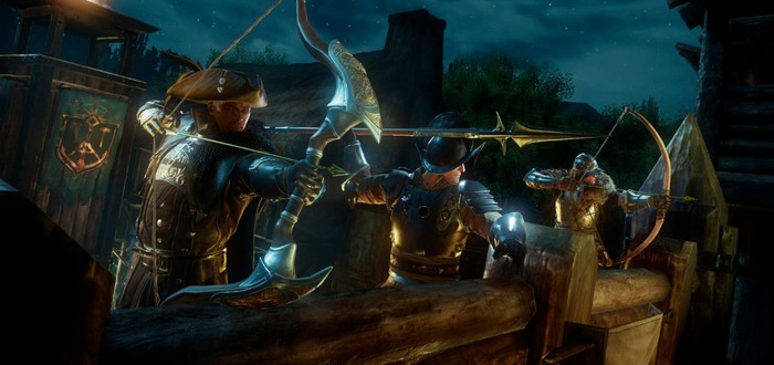 Новый геймплей MMORPG New World с захватом крепости