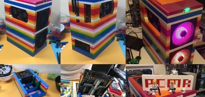 Реддитор собрал PC, использовав для корпуса детали из LEGO
