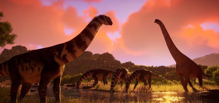 Тираннозавры и мамонты в одном парке развлечений в трейлере тайкуна Prehistoric Kingdom