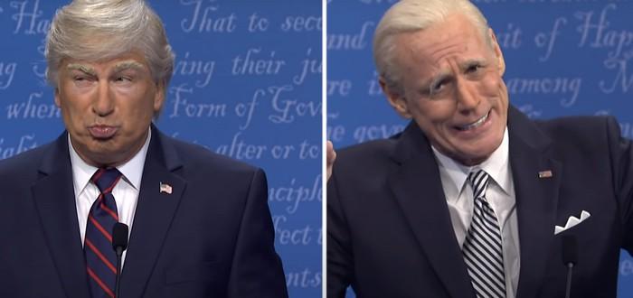 Джим Керри и Алек Болдуин спародировали президентские дебаты