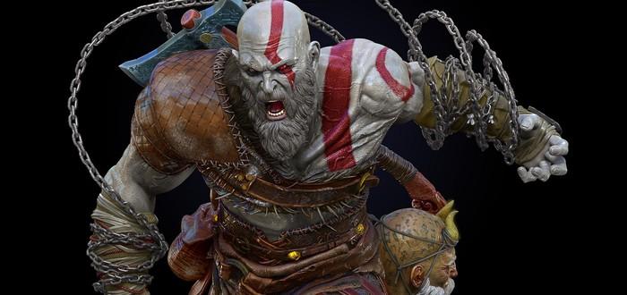 Арт-директор God of War показал первую версию Кратоса с двумя топорами