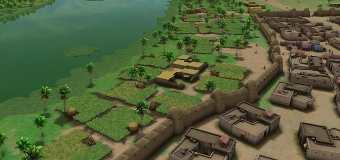 Укрепления, города и поля в релизном трейлере градостроительной стратегии Sumerians
