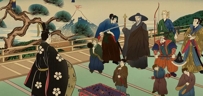"""Как """"Властелин колец"""" мог выглядеть в стиле японской живописи"""