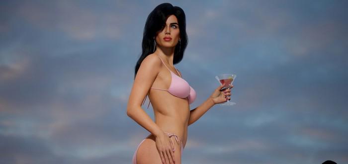 Художник создал 3D-модель девушки с обложки GTA: Vice City