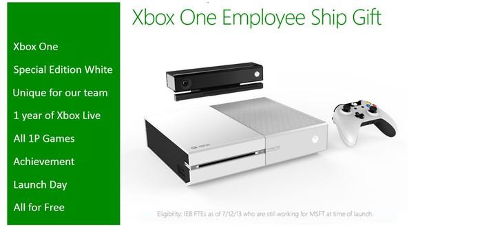 Microsoft будет раздавать белые Xbox One бесплатно... своим сотрудникам