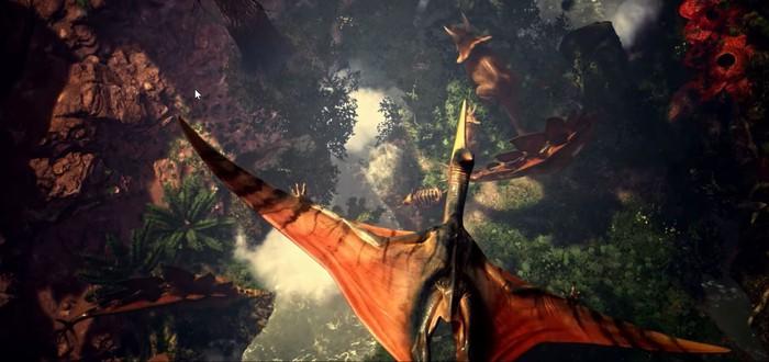 Крушение на планете динозавров в трейлере сурвайвала Dinos Reborn