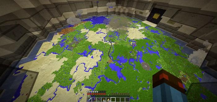 Игрок Minecraft соорудил механизм для симуляции погоды в миниатюрном масштабе
