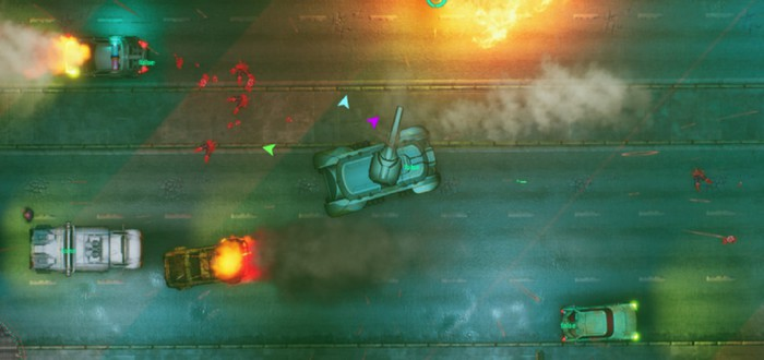 Смесь GTA 2 и Cyberpunk в новом геймплее Glitchpunk