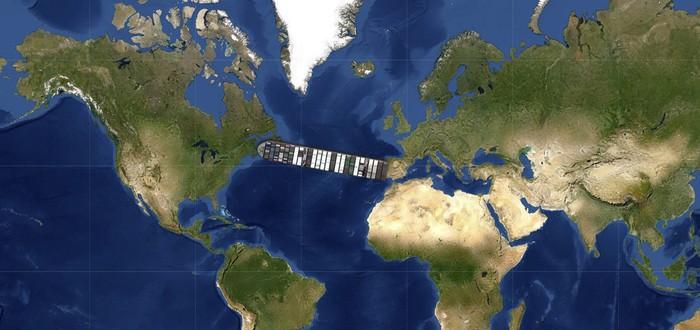 При помощи этого сайта вы можете разместить корабль из Суэцкого канала на своем доме