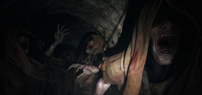 Сражение с монстрами в геймплеейном видео Resident Evil Village c PS4 Pro