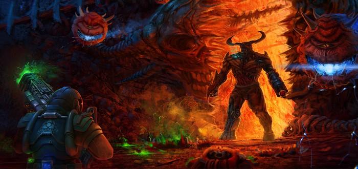 """В оригинальной Doom запустили """"Змейку"""""""