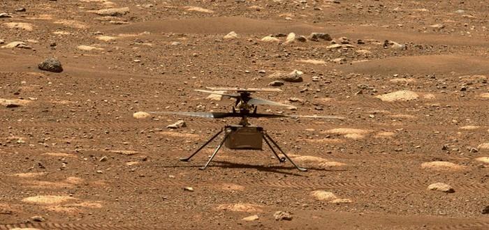 Видео полета марсианского вертолета NASA в хорошем качестве