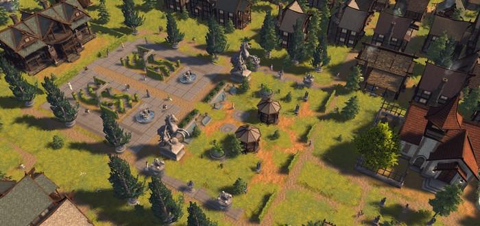 Строительство процветающего средневекового города в трейлере стратегии Patron