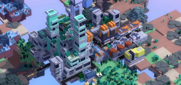 Строительство парящих вертикальных городов в трейлере стратегии Complex SKY