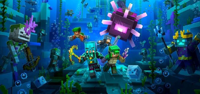 Minecraft Dungeons получит подводное DLC в конце месяца