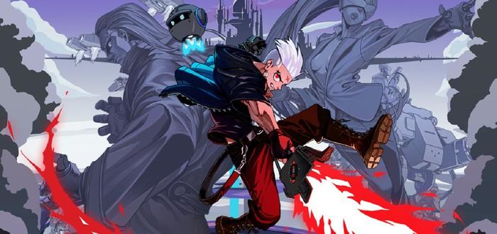 Высокоскоростное уничтожение врагов в релизном трейлере платформера Blade Assault