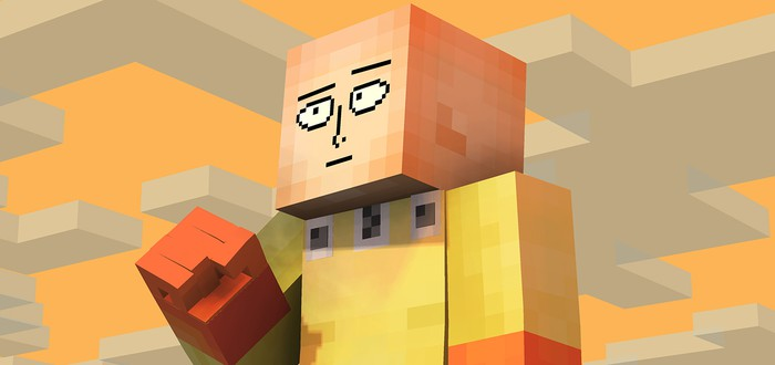 Игрок сделал мод для Minecraft, чтобы стать Ванпанчменом и сносить горы блоков одним ударом