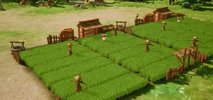 Строительство милой азиатской деревни в трейлере градостроительной стратегии The Immortal Mayor