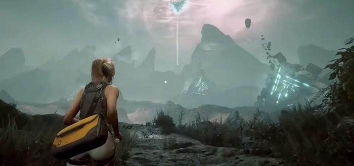Сражения с инопланетной фауной в геймплее экшена Scars Above
