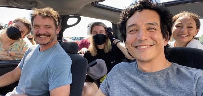 Семья Миллеров и русские кинематографисты на первом кадре со съемок   сериала The Last of Us
