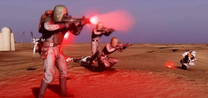 Новый геймплей масштабного мода по Star Wars на основе Fallout: New Vegas