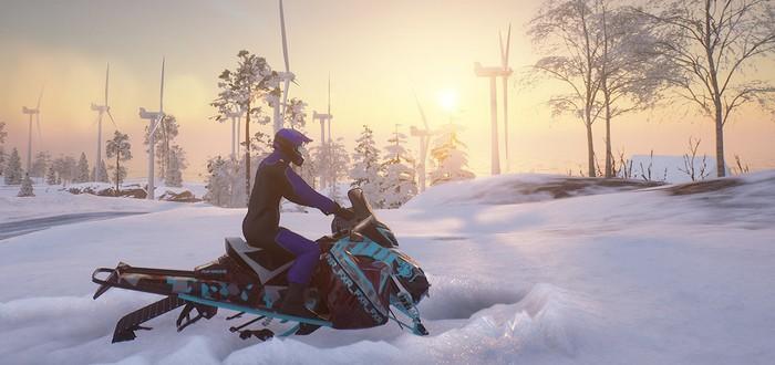 Вышла бесплатная Til Nord про гонки на снегоходах