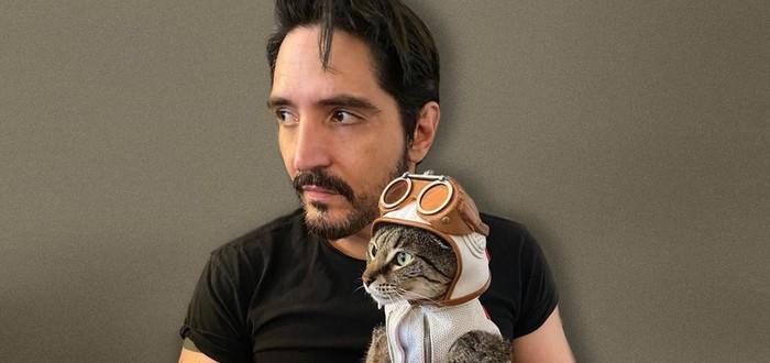 Человек-в-горошек спас бездомную кошку-в-горошек