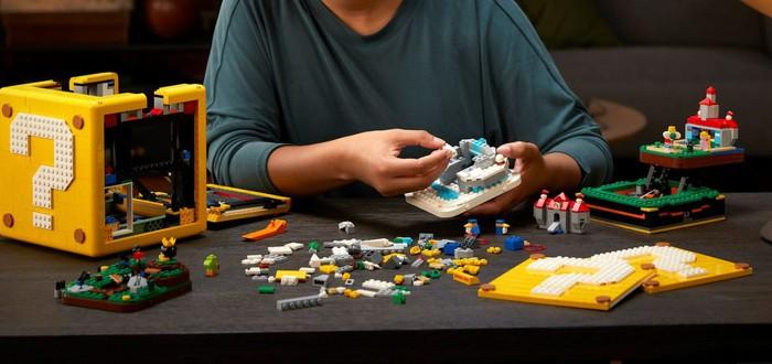 LEGO представила блок по Super Mario 64 с панорамами из игры — более 2 тысяч элементов
