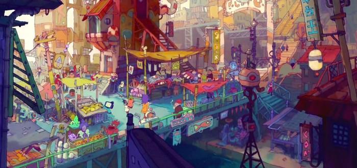 Сражения в пещерах в геймплее Eastward с уникальным визуальным стилем