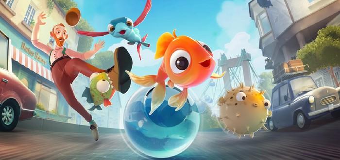 Побег рыбки из большого города в стартовом геймплее I Am Fish