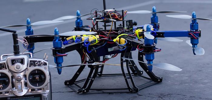Летающий дрон использовали для доставки контрабанды
