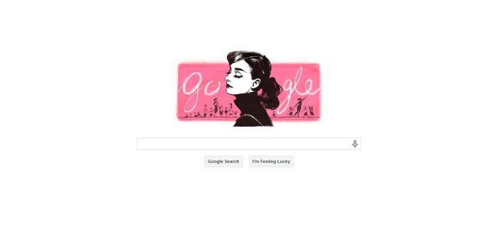 Вариации Одри Хепбёрн для Google