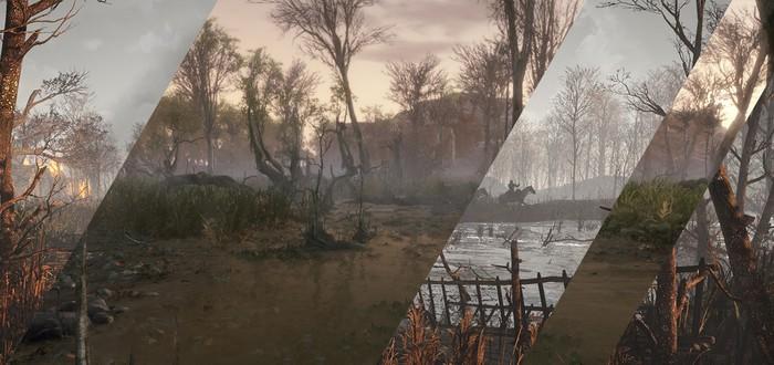 Сцена Witcher 3 воссоздана на CryEngine