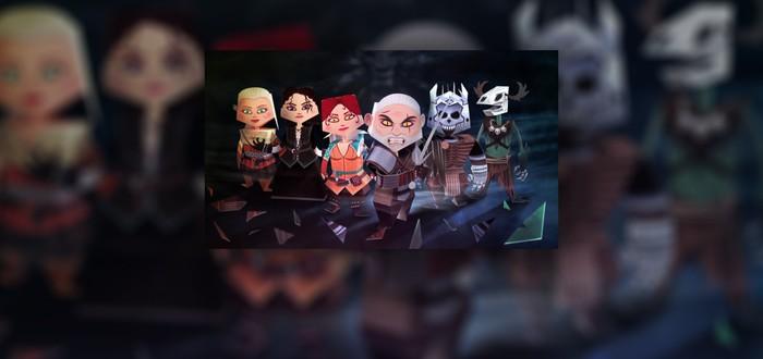 Бумажный Геральт и его команда для Witcher 3