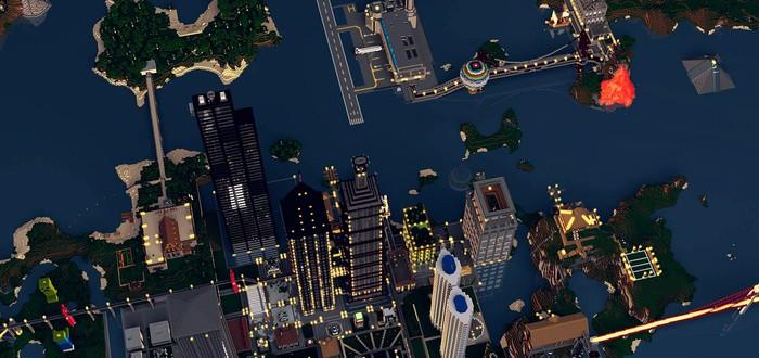 SimCity сделали в Minecraft