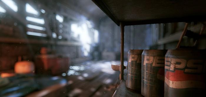 [ game engines ] Заброшенный ангарный поезд