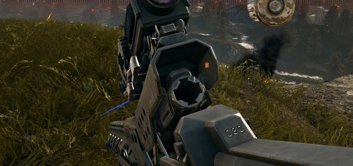 Демонстрация футуристической пушки из дополнения Battlefield 4 - Final Stand