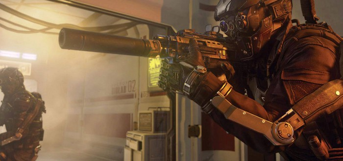 Извержение вулкана на карте Call of Duty: Advanced Warfare