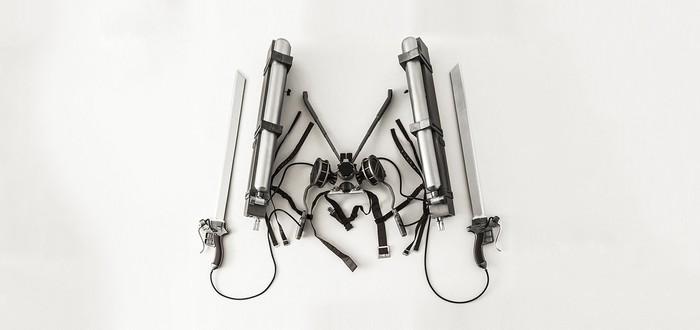 Детальная копия маневровых двигателей и мечей Attack on Titan за $1000