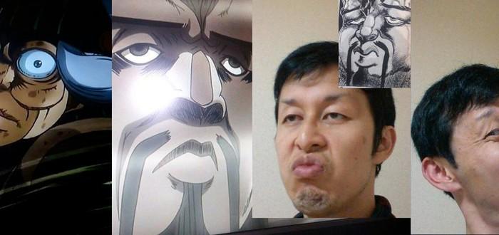 Реальные пародии на аниме-лица
