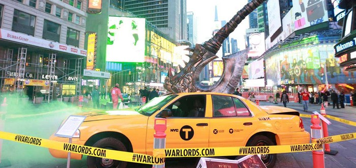 Реклама Warlords of Draenor на Times Square