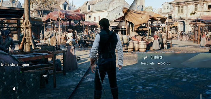 Сравнение Assassin's Creed Unity на высоких и низких настройках графики