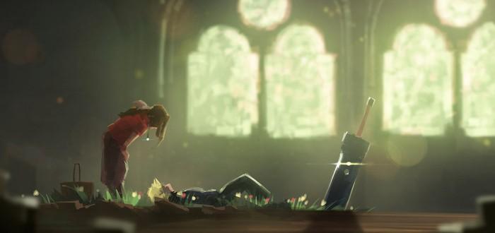 Художник воссоздал запоминающиеся моменты из Final Fantasy VII