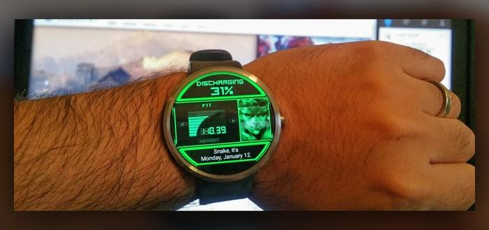 Интерфейс MGS для Android Wear